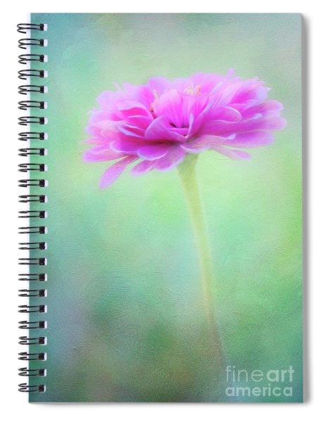 Painted Pink Zinnia Spiral Notebook