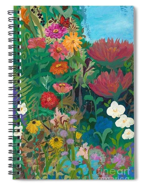 Zinnias Garden Spiral Notebook