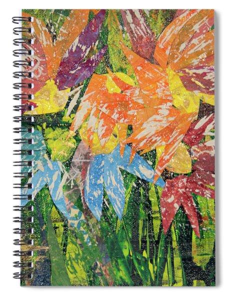 Zinnias Gone Mad Spiral Notebook