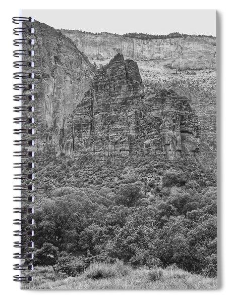 Zion Canyon Monochrome Spiral Notebook