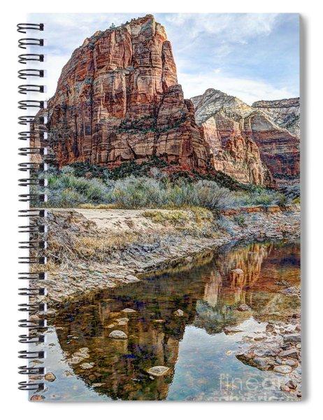 Zions National Park Angels Landing - Digital Painting Spiral Notebook