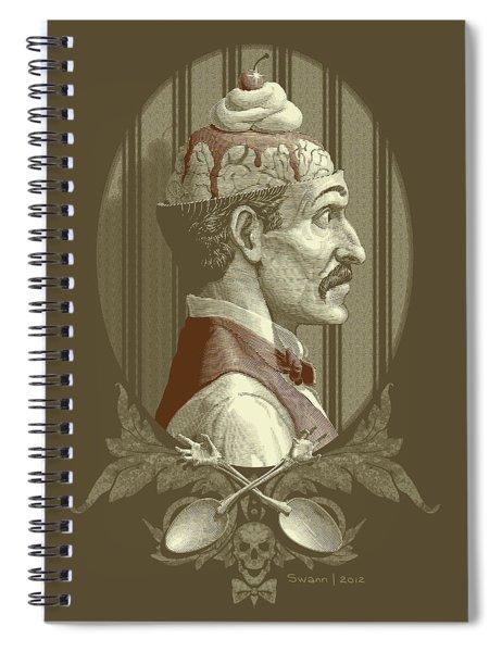 Zombies Sundae - Brown Spiral Notebook