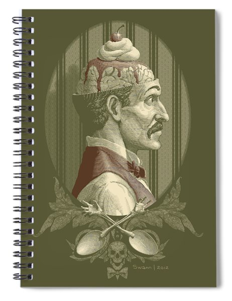Zombies Sundae - Green Spiral Notebook