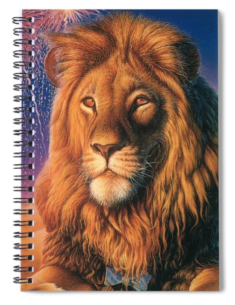Zoofari Poster The Lion Spiral Notebook