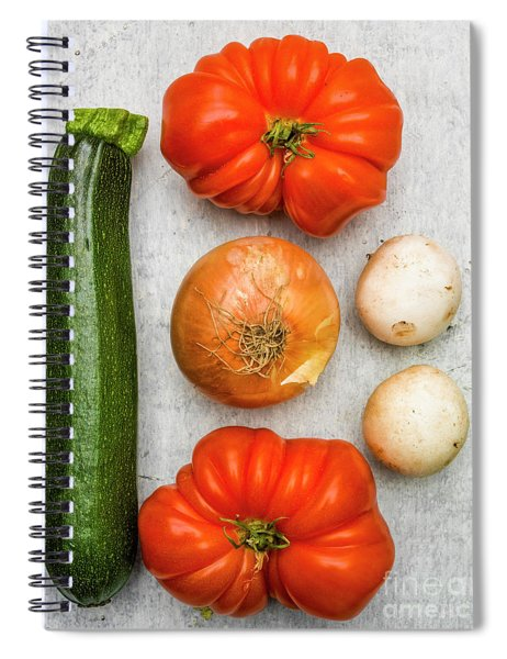Zucchini And Tomatoes Spiral Notebook