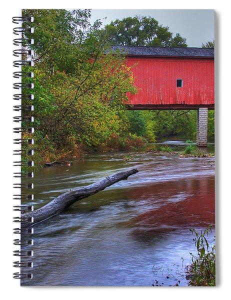 Zumbrota Minnesota Historic Covered Bridge 5 Spiral Notebook
