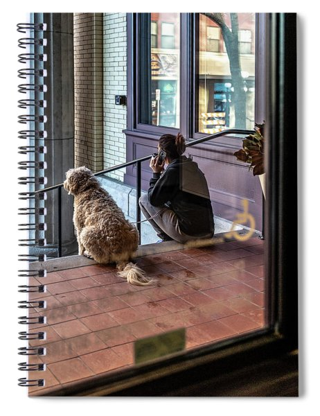 018 - Girl And Dog Spiral Notebook
