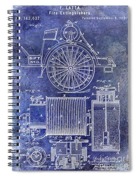 1873 Fire Extinguisgers Patent Spiral Notebook