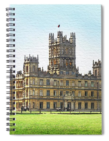 A View Of Highclere Castle Spiral Notebook