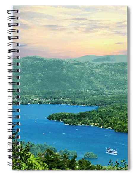 A View Of Lake George,adirondack Park New York. Spiral Notebook