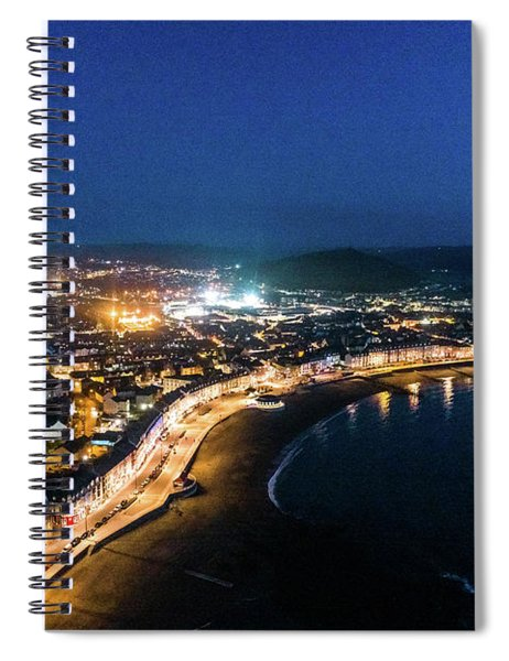 Aberystwyth At Night From The Air Spiral Notebook