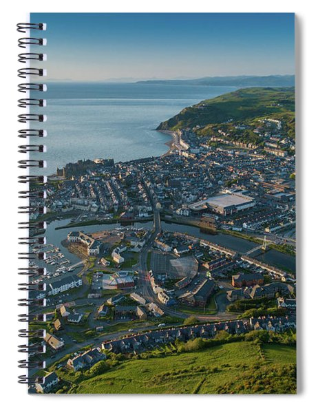 Aberystwyth From The Air Spiral Notebook