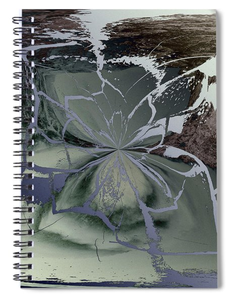 Abstract Bloom Spiral Notebook