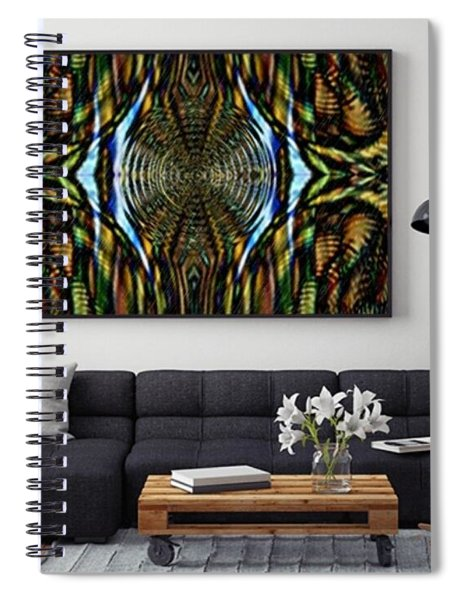 Abstract Caracause Spiral Notebook