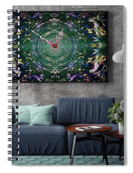 Abstract Cherry Blossom Spiral Notebook