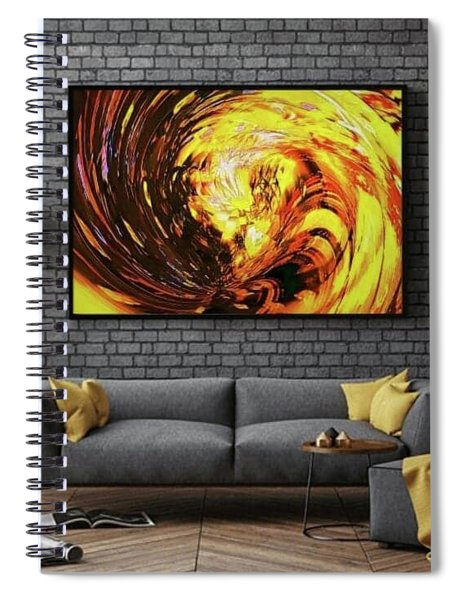 Abstract Gold Swirl Spiral Notebook