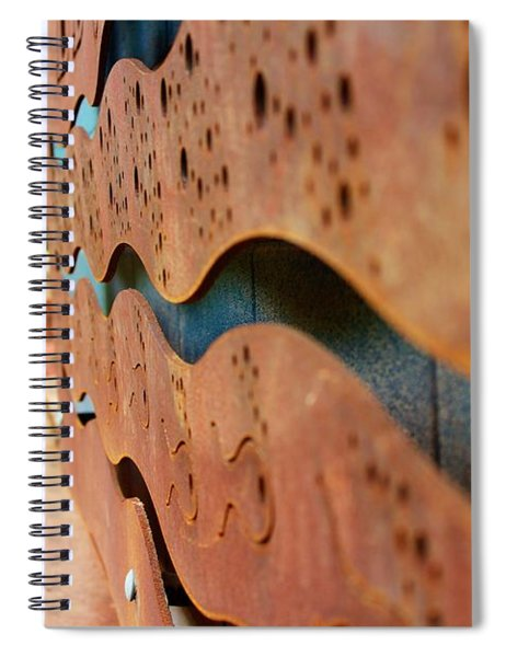 1 Abstract Lake Patricia Sign 3 Spiral Notebook
