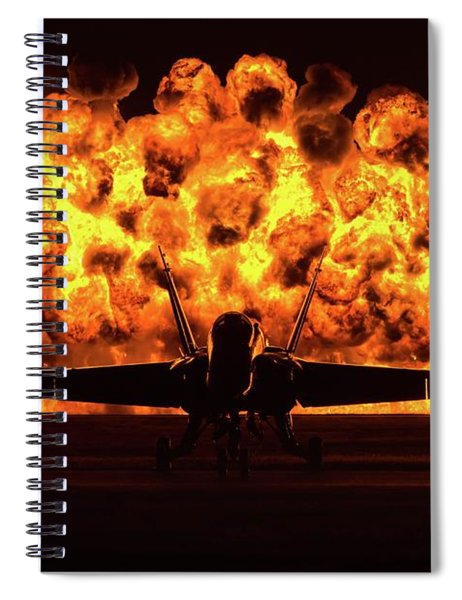 Angel And Fire Spiral Notebook