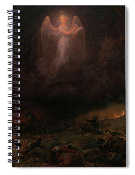 Angel On The Battlefield Spiral Notebook