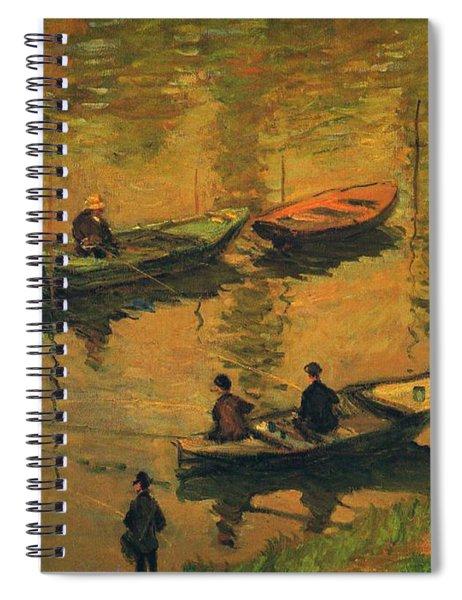 Anglers On The Seine At Poissy, 1882 Spiral Notebook