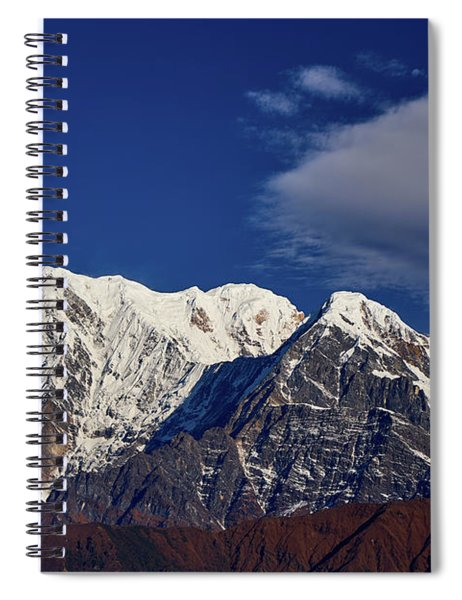 Annapurna South Peak And Pass In The Himalaya Mountains, Annapurna Region, Nepal Spiral Notebook