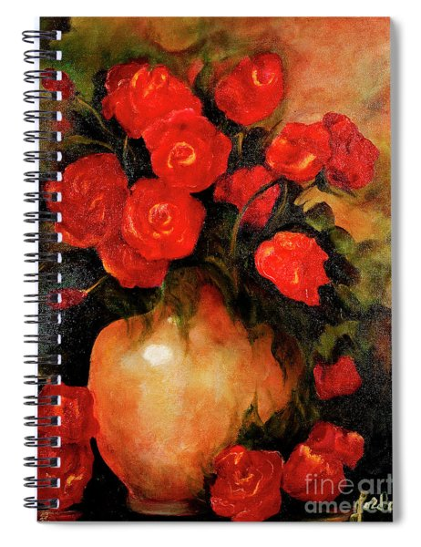 Antique Red Roses Spiral Notebook