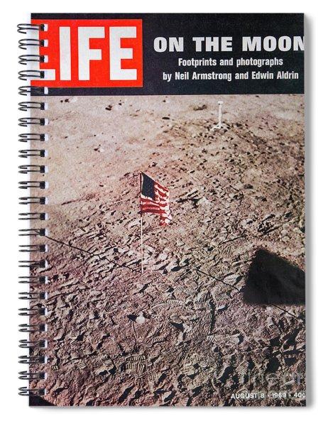 Apollo 11 Life Magazine Cover Spiral Notebook