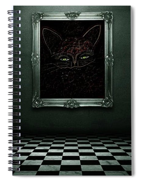 Appearance Of The Mystic Cat Spiral Notebook