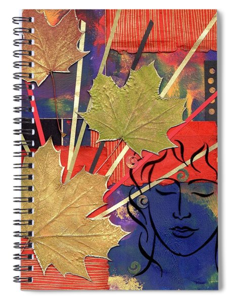 Spiral Notebook featuring the mixed media Michael The Angel by Koka Filipovic