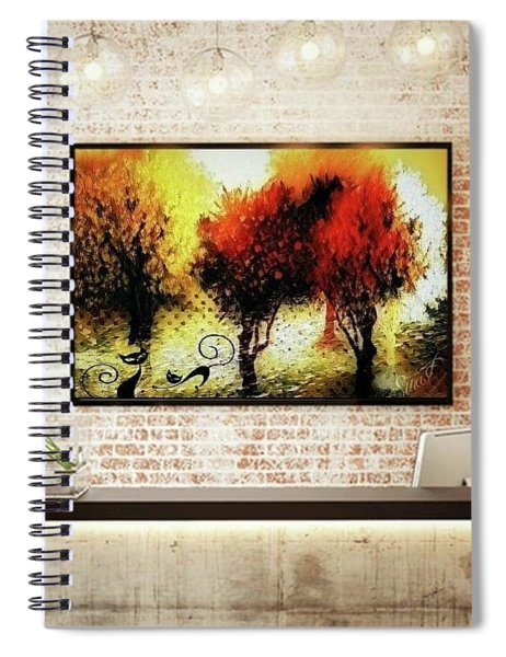 Autumn With Cat Focus Spiral Notebook
