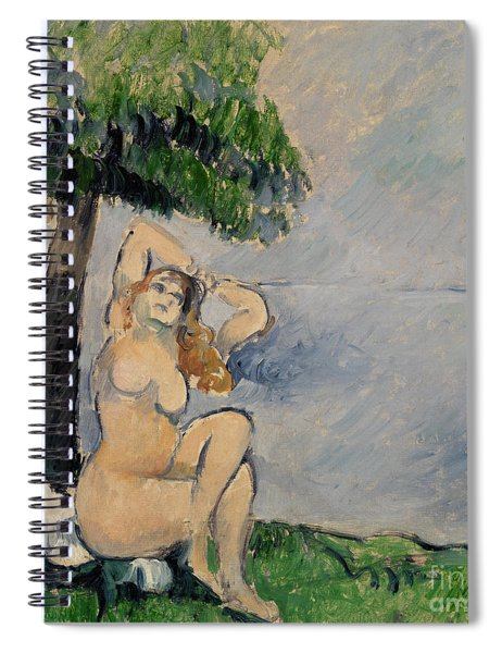 Bather At The Seashore Spiral Notebook
