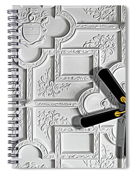 Black And White In Color Spiral Notebook