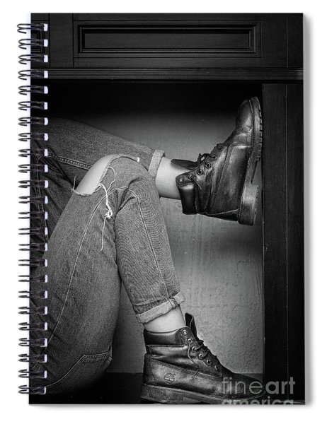 Black Shoes #9397 Spiral Notebook