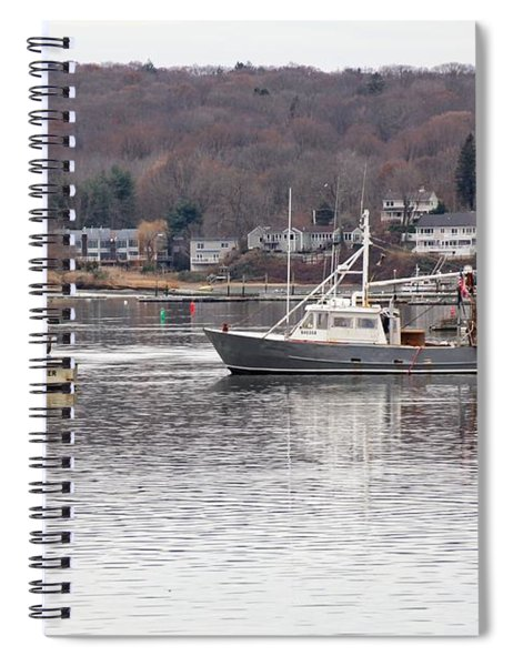 Boats At Northport Harbor Spiral Notebook