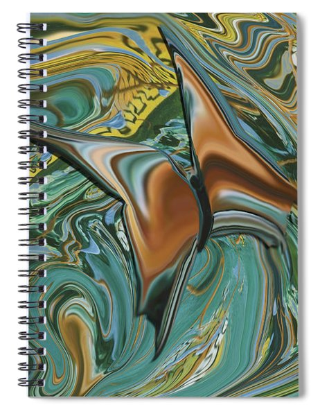 Bronze Butterfly Spiral Notebook