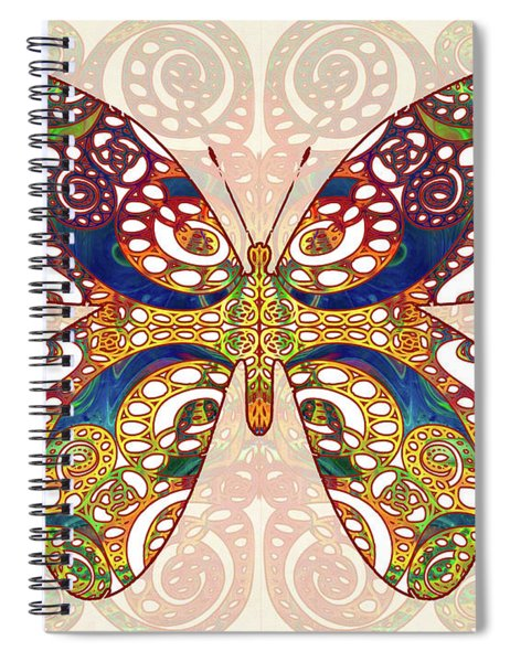 Butterfly Illustration - Transforming Rainbows  - Omaste Witkowski Spiral Notebook