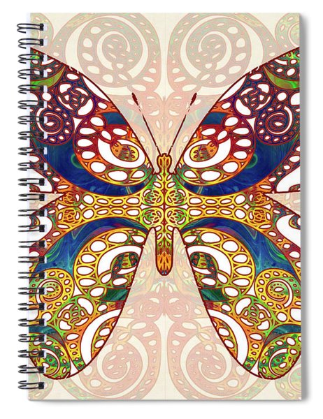 Butterfly Illustration - Transforming Rainbows  - Omaste Witkowski Spiral Notebook