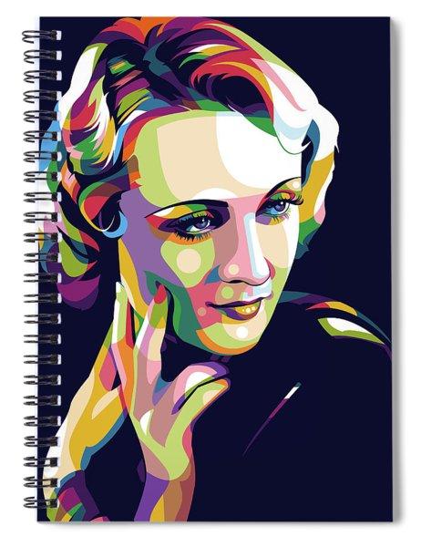 Carole Lombard Spiral Notebook