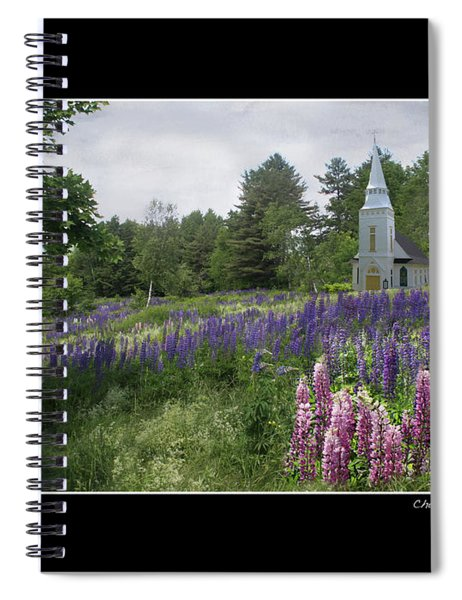 Chapel In The Lupine Poster Spiral Notebook