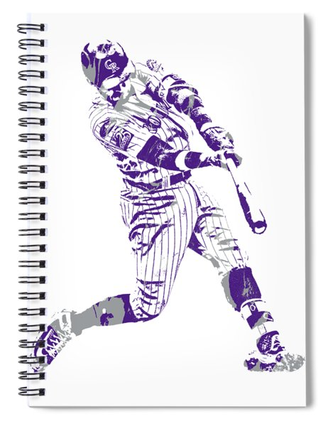 Trevor Story Colorado Rockies Pixel Art 5 Spiral Notebook