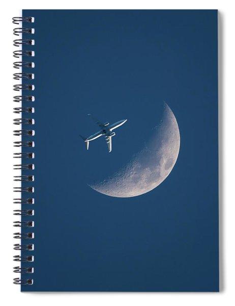 Close Encounter Of The Lunar Kind Spiral Notebook