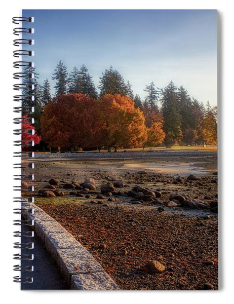 Colorful Autumn Foliage At Stanley Park Spiral Notebook