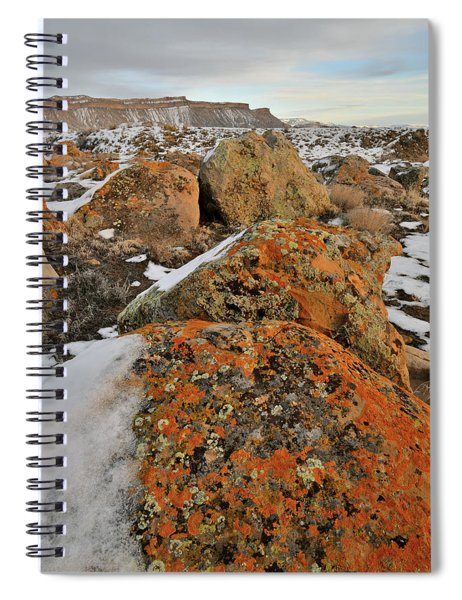 Colorful Boulders Of The Book Cliffs Spiral Notebook