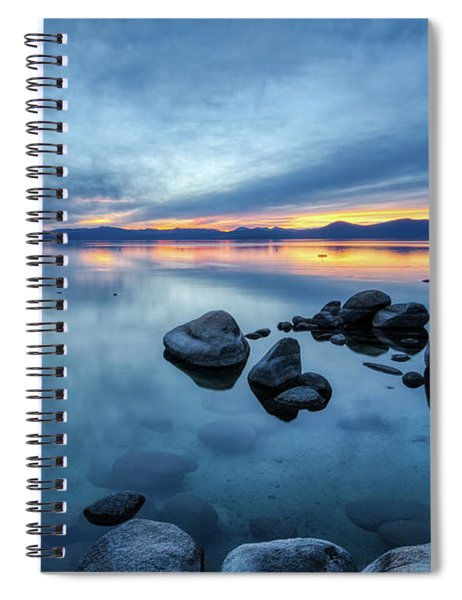 Colorful Sunset At Sand Harbor Spiral Notebook