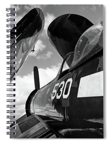 Corsair With Folded Wings Spiral Notebook