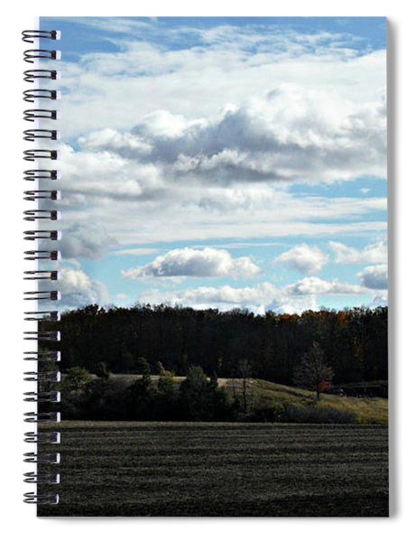 Country Autumn Curves 3 Spiral Notebook