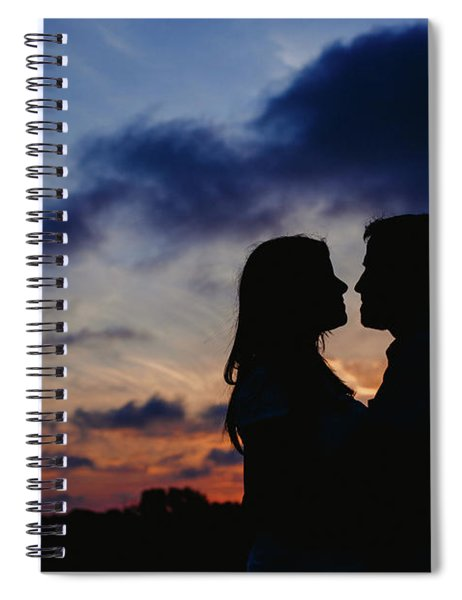 Couple With Cloud Sky Backlight Spiral Notebook