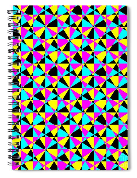 Crazy Psychedelic Art In Chaotic Visual Color And Shapes - Efg22 Spiral Notebook