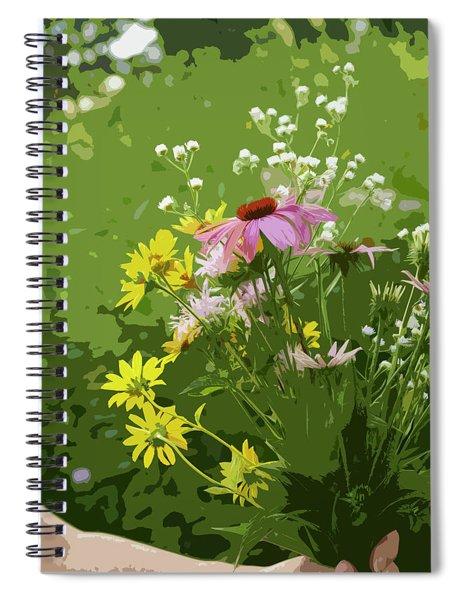 Cut Flowers Spiral Notebook