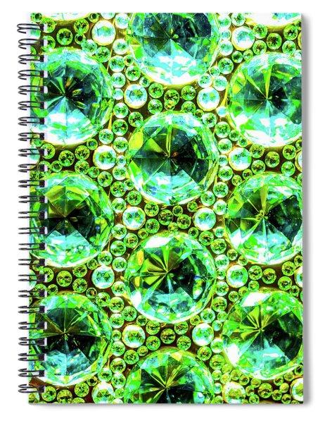Cut Glass Beads 2 Spiral Notebook